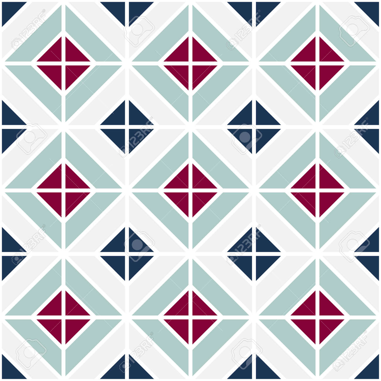 Simple Floor Tile Pattern, Abstract Geometric Seamless Background ...