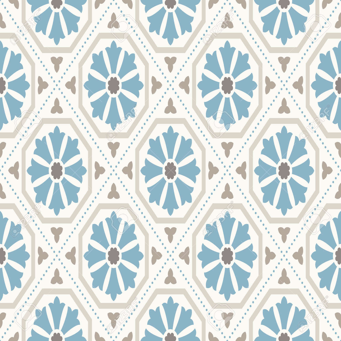 Modern Geometric Pattern Inspired By Vintage Wallpapers Nice Retro Colors