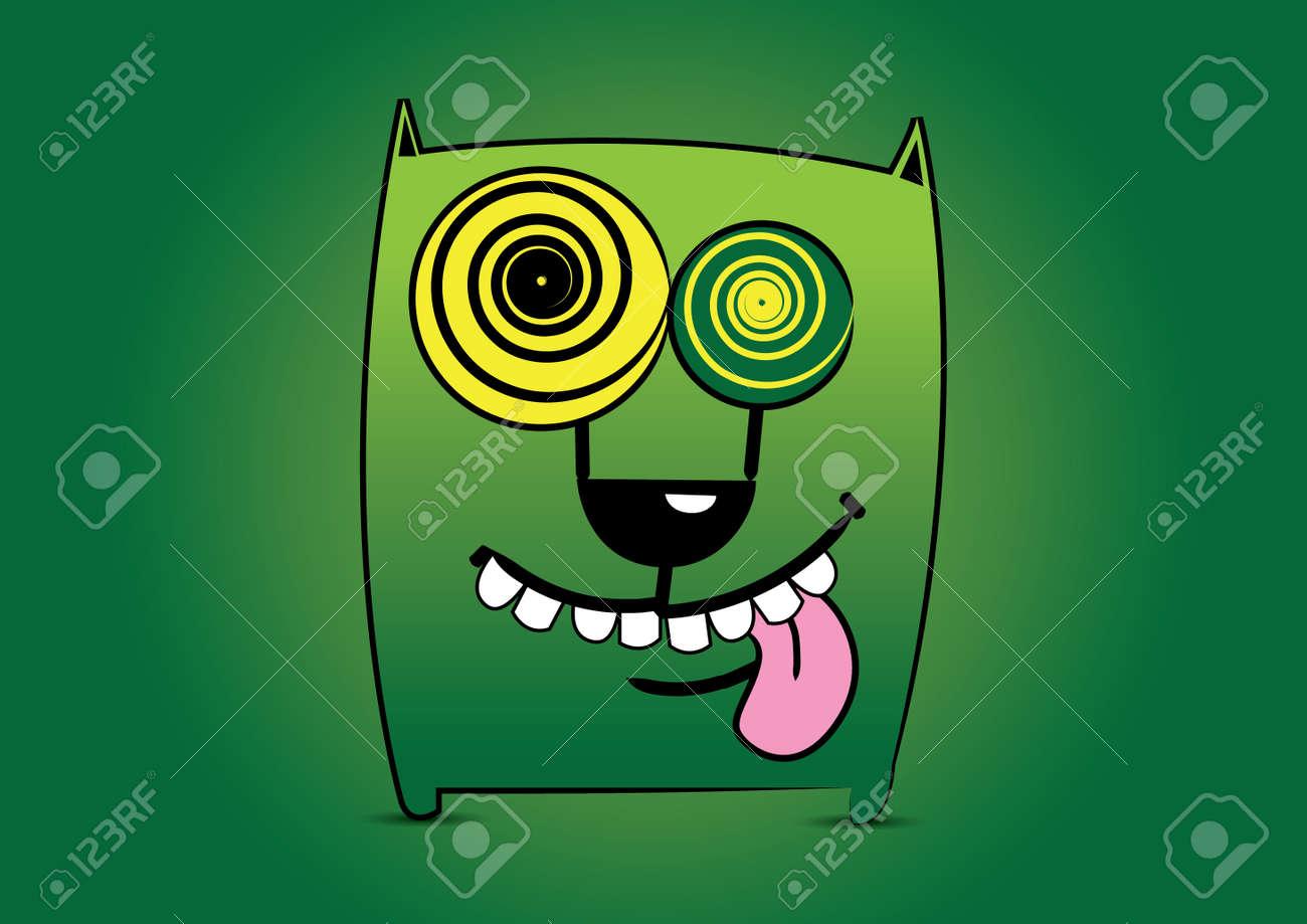 Illustration cute cartoon monster Stock Vector - 13436337