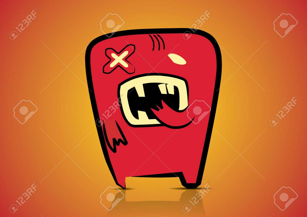 Illustration cute cartoon monster Stock Vector - 13436336