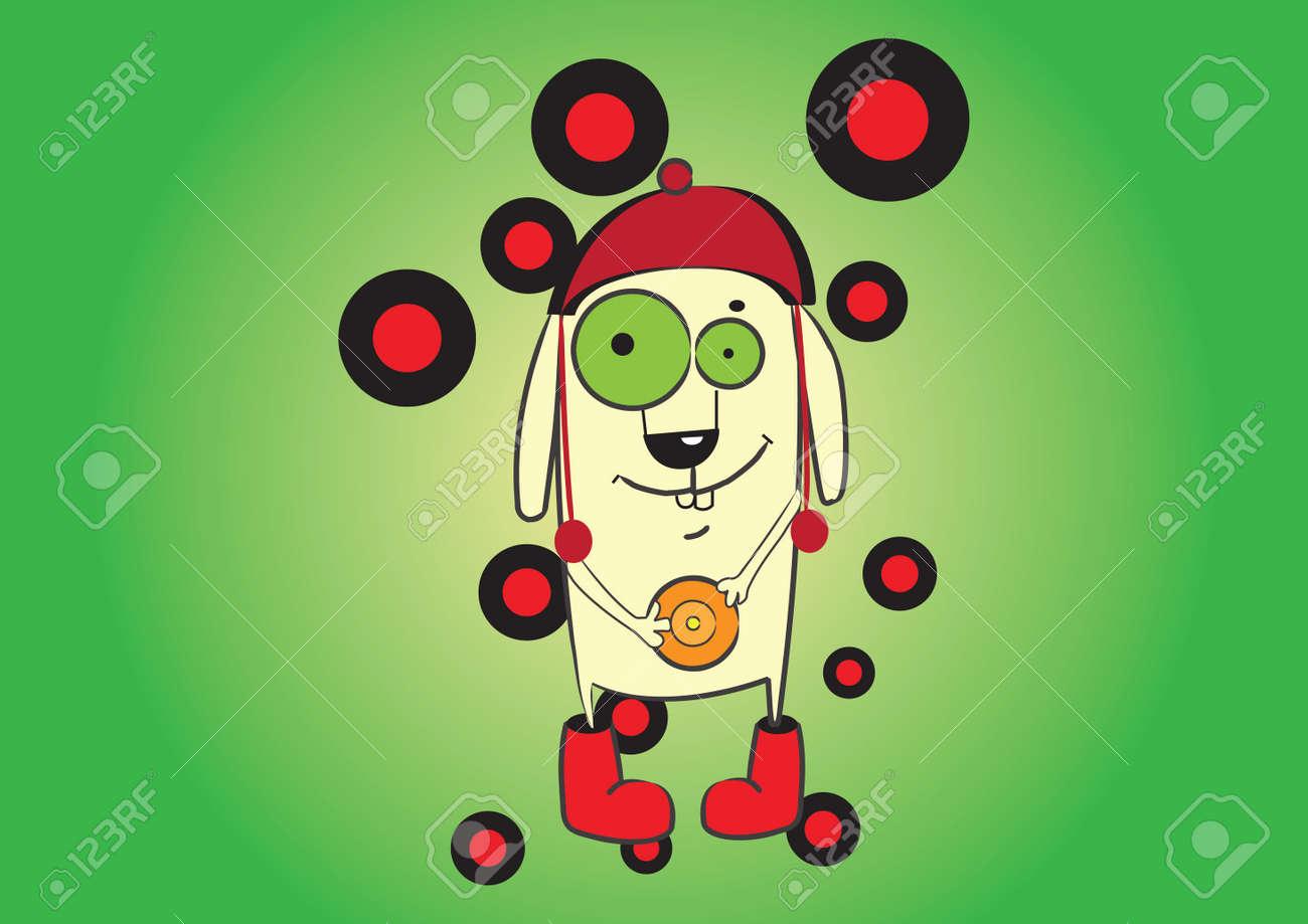 Vector illustration  Cute cartoon character Stock Vector - 13500749