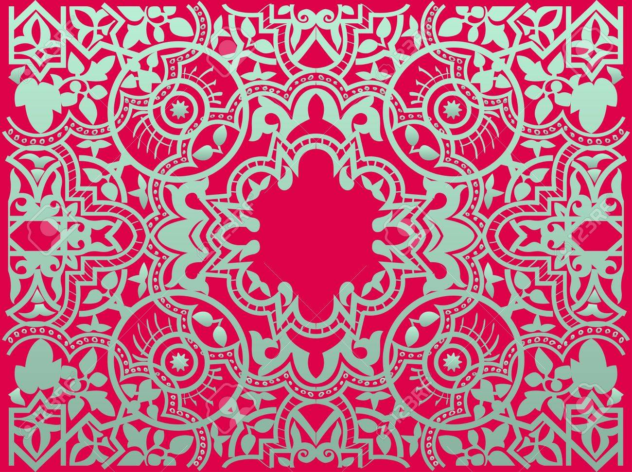 Vector vintage flower motif arabic retro pattern Stock Vector - 15140156