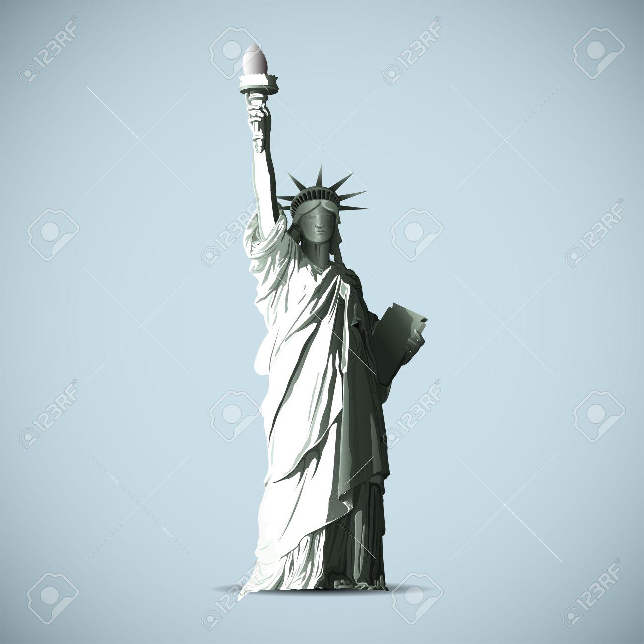 Statue Of Liberty Vector Black Shadows Silhouette Stock Vector - 15140158