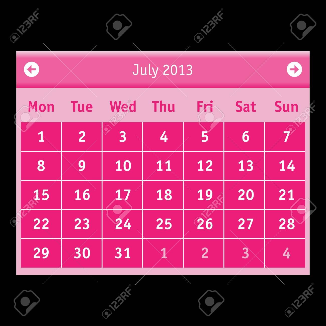 Vector Calendar Stock Vector - 15140151