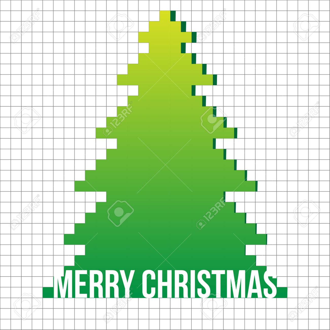 Christmas tree applique vector  background. Postcard Stock Vector - 15500909