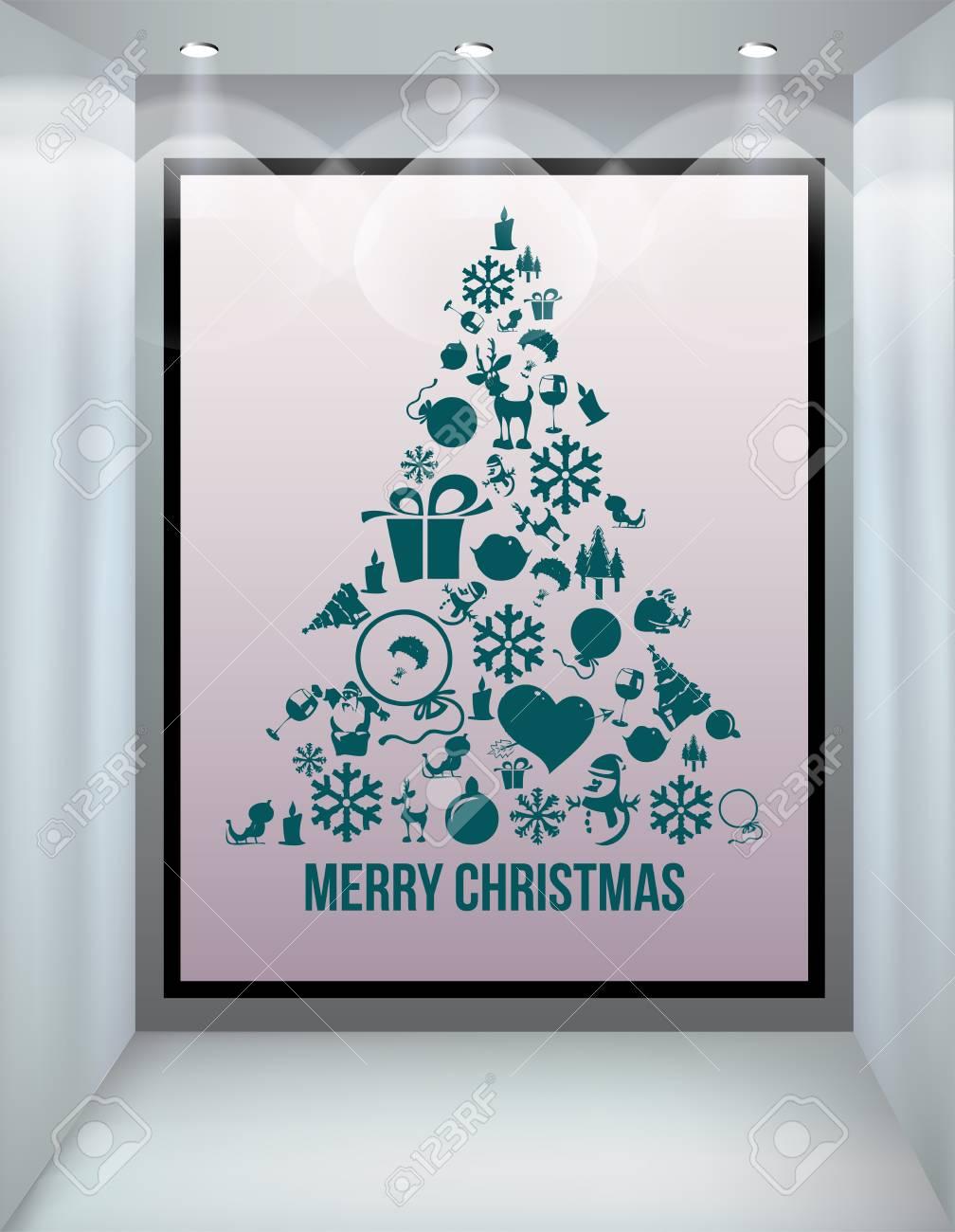 Christmas tree applique vector  background. Stock Vector - 15500863