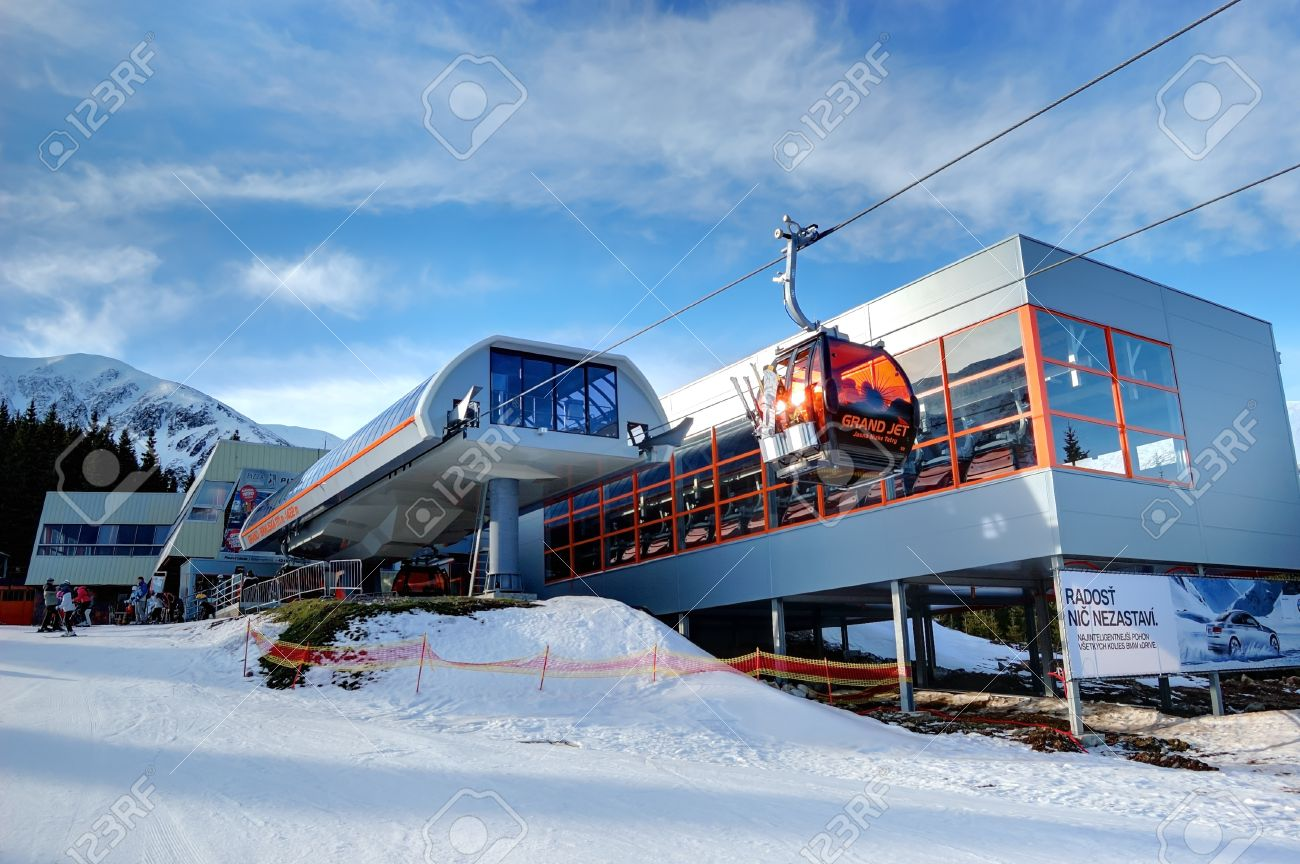 jasna-january 9: jasna low tatras is the largest ski resort in