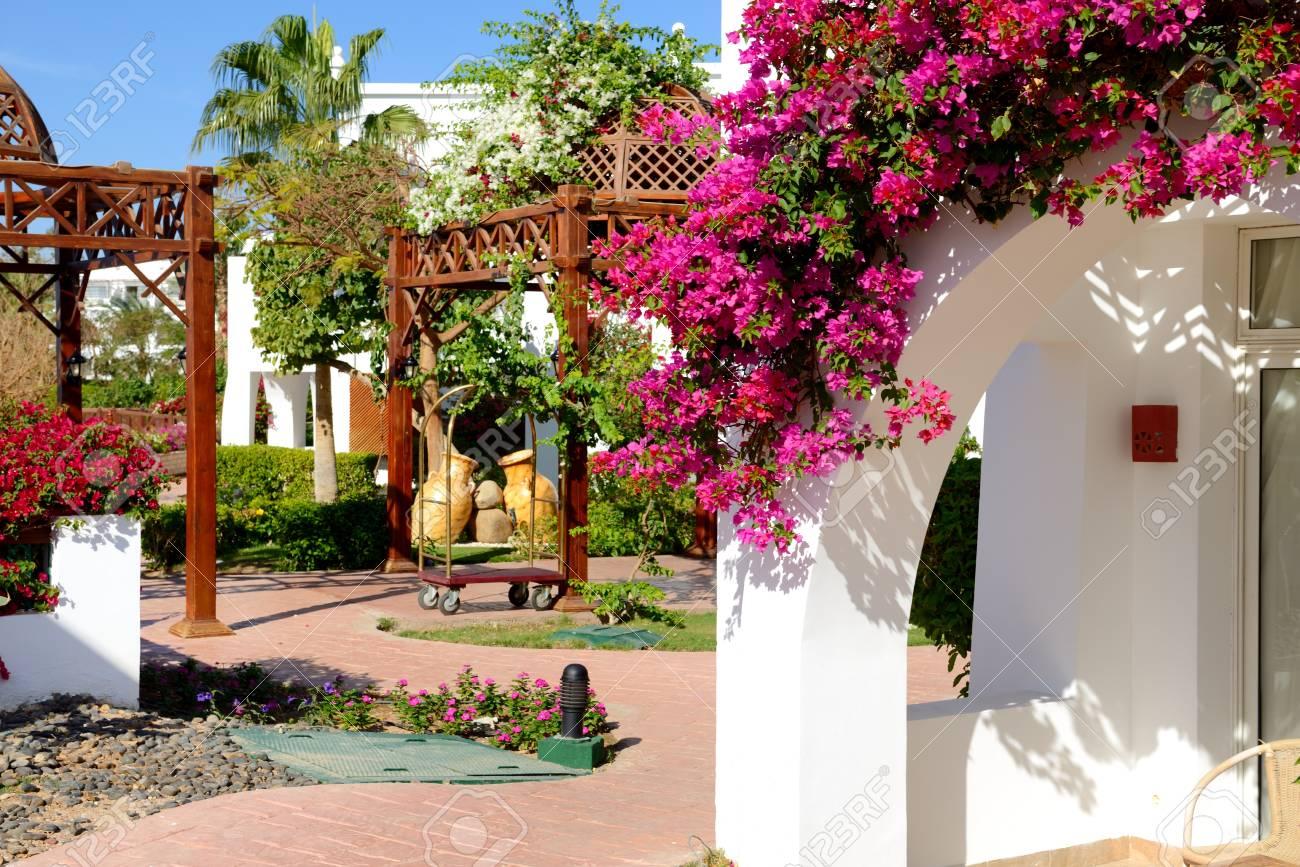 Villa decoration at the luxury hotel, Sharm el Sheikh, Egypt
