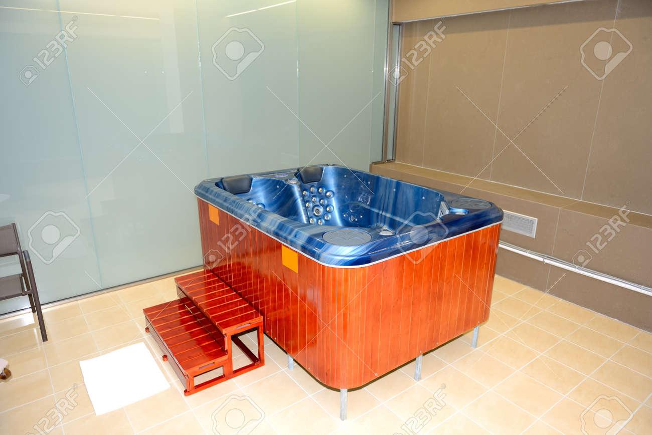 Jacuzzi In SPA Of Modern Luxury Hotel, Peloponnes, Greece Stock ...