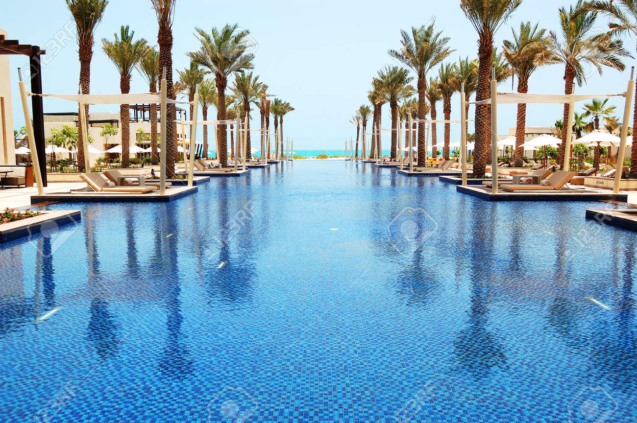 Swimming Pool Of The Luxury Hotel Saadiyat Island Abu Dhabi