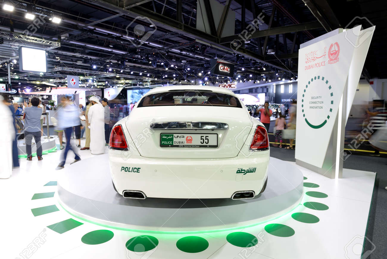 Dubai Uae November 18 The Rolls Royce Wraith Of Dubai Police Stock Photo Picture And Royalty Free Image Image 91927753