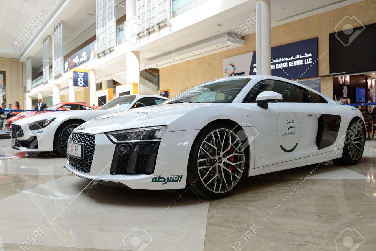 Dubai Uae November 18 The Audi R8 And Mercedes Benz Gt R