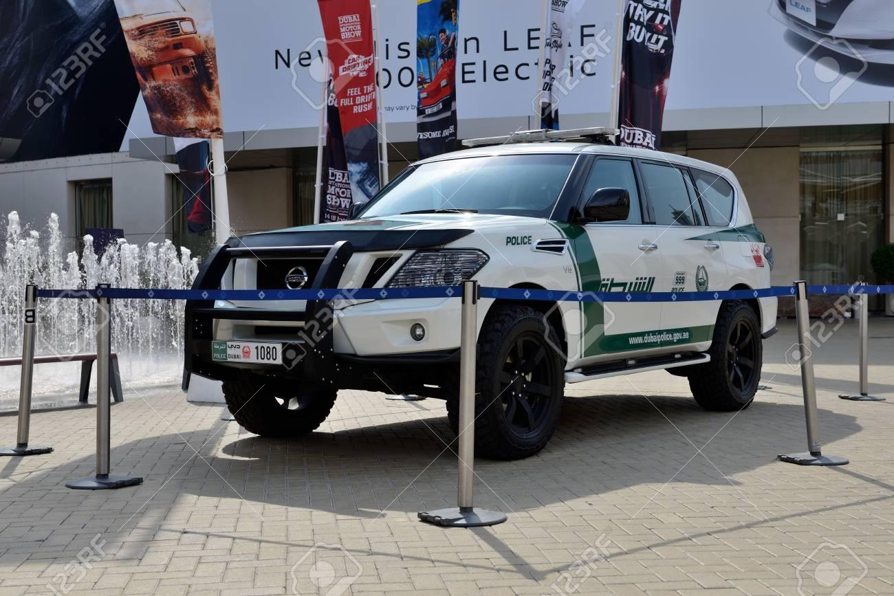 Dubai Uae November 17 The Nissan Patrol Of Dubai Police Car Stock Photo Picture And Royalty Free Image Image 105117335
