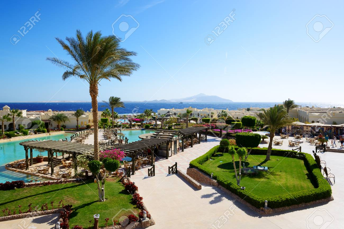 The Swimming Pool Near Outdoor Restaurant At Luxury Hotel Sharm Stock Photo Picture And Royalty Free Image Image 127171637