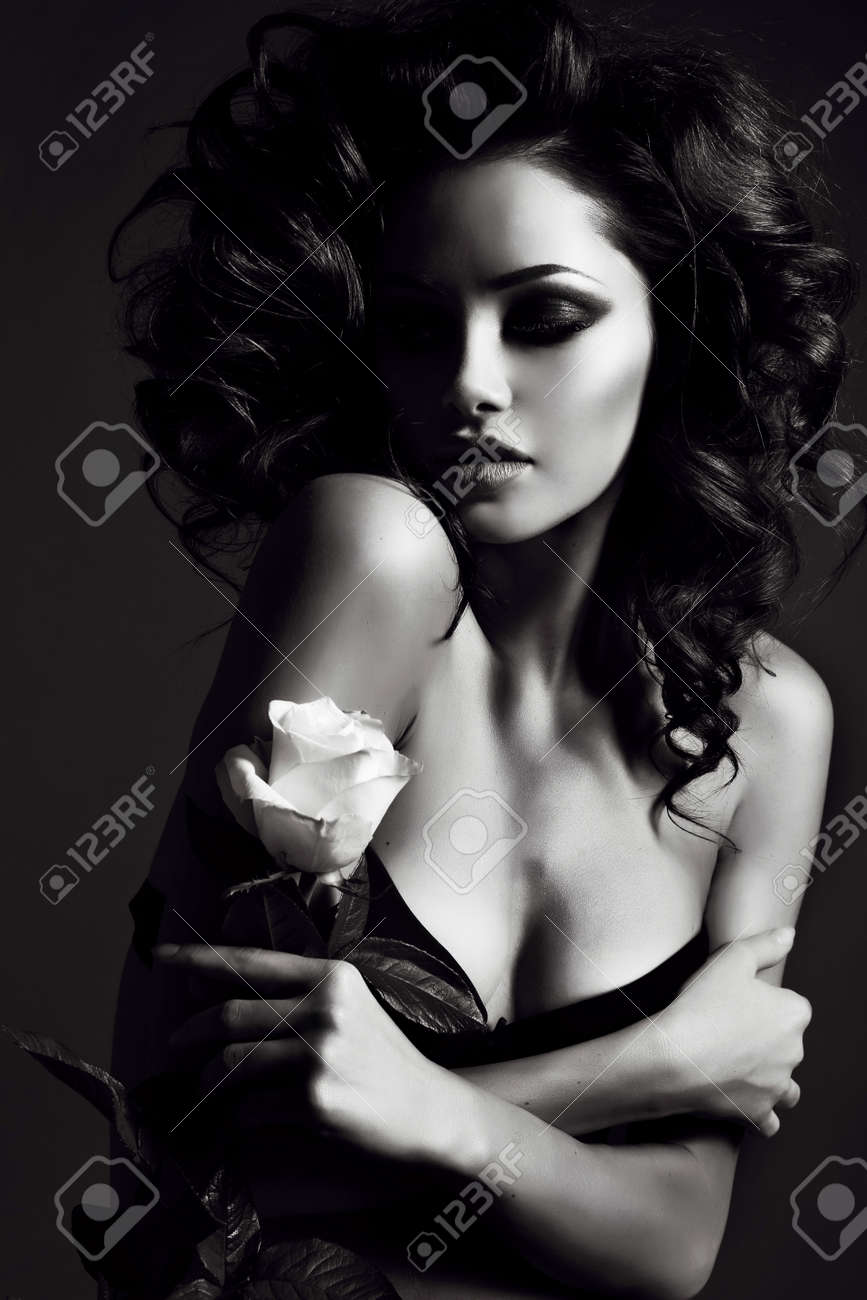 Black and white sexy woman