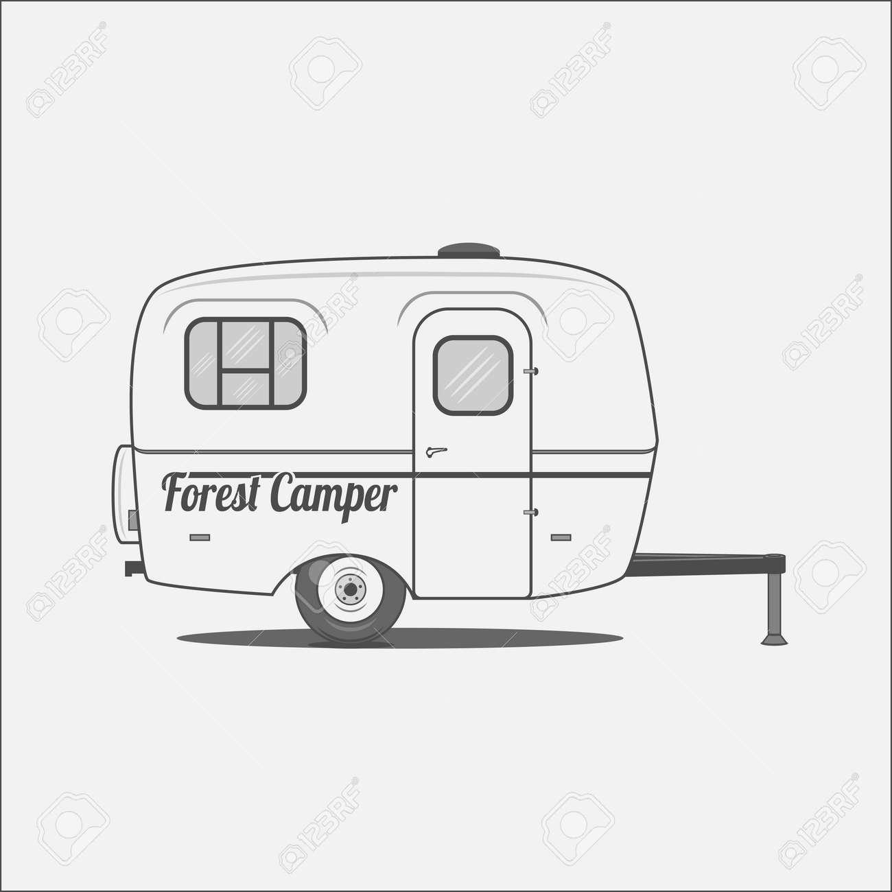 Caravana - Casa Móvil Para Camping. Remolque De Viajes, Listo Para ...