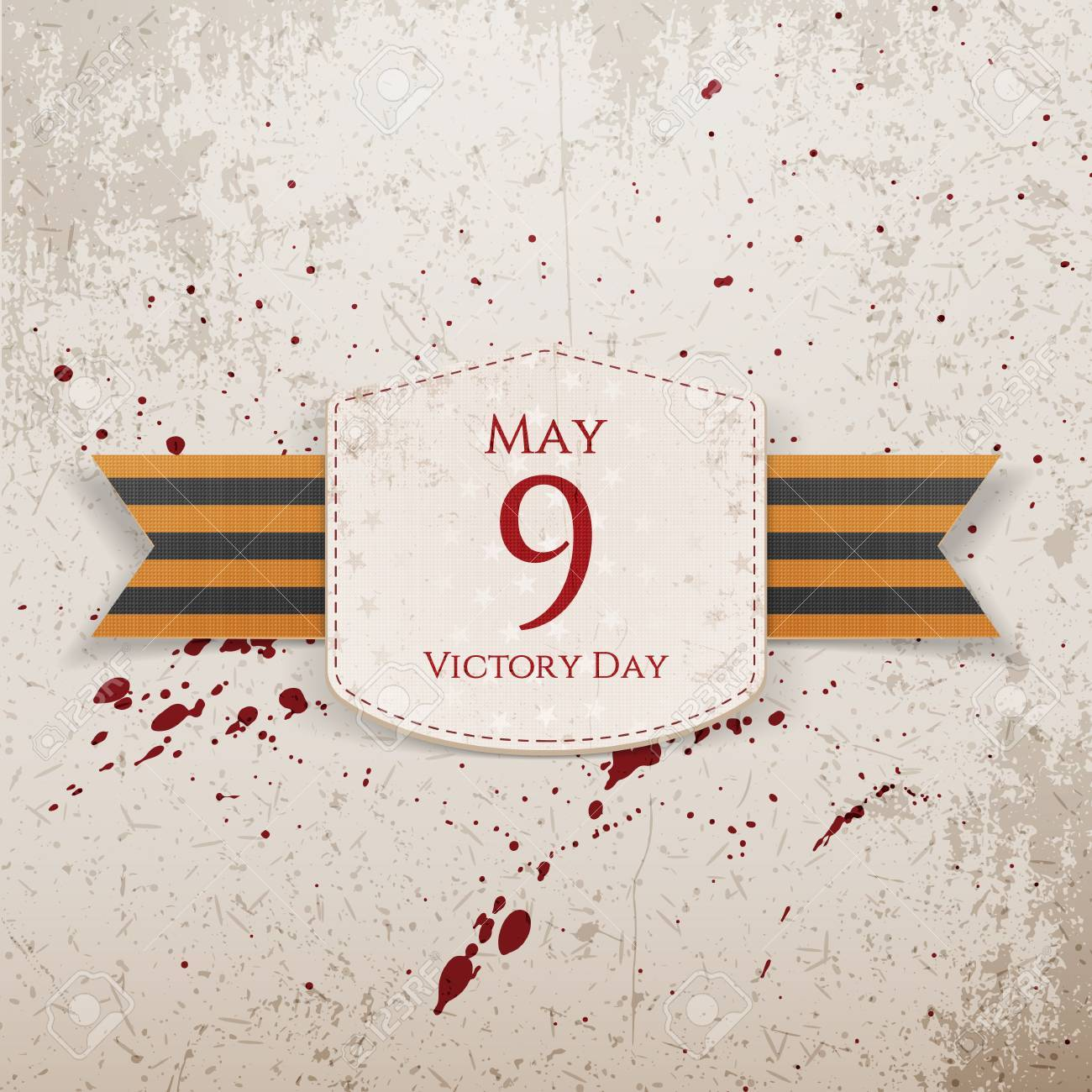 victory day may 9 realistic paper banner template with st george