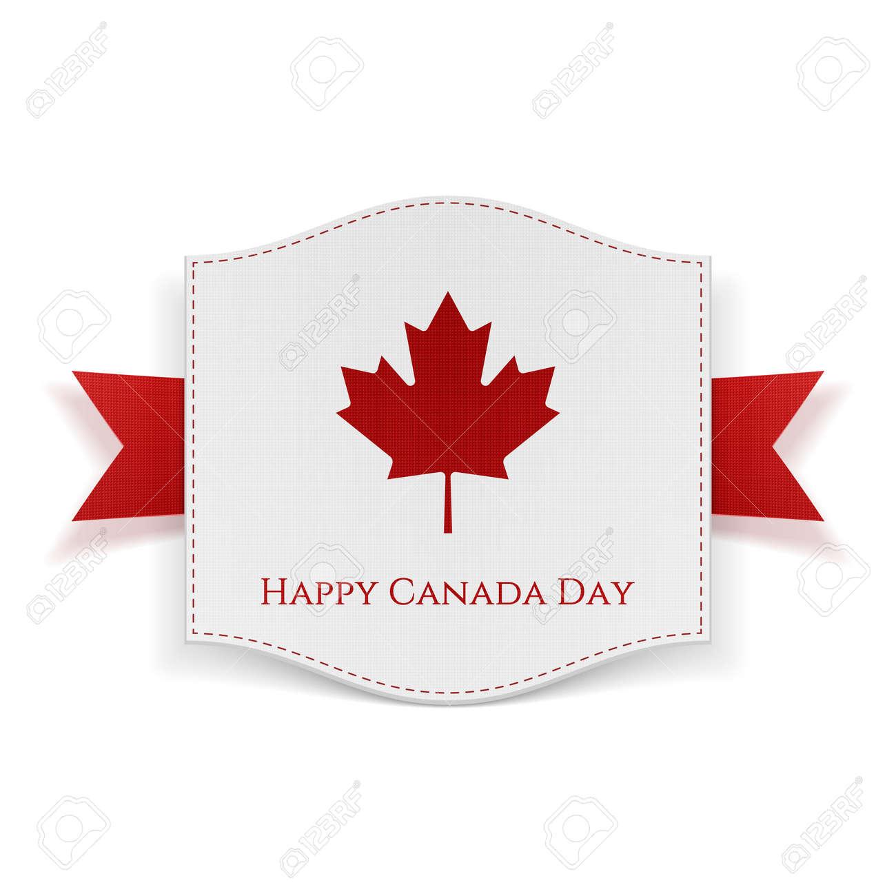 Plantilla Fondo Feliz Del Día De Canadá. Bandera Con El Texto Y La ...