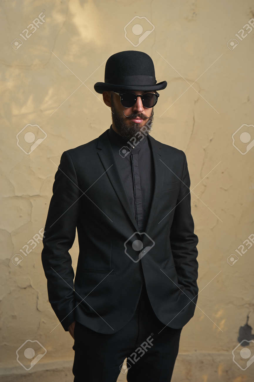 f040f559574 Bearded Man With Black Suit