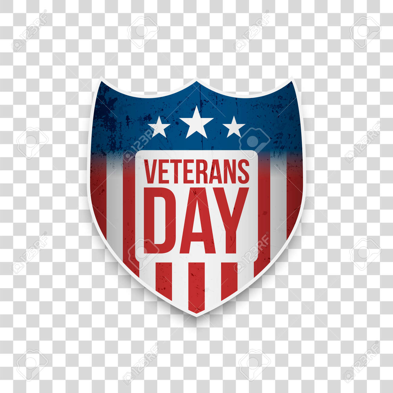 Veterans Day Sale Greeting Shield With Text Royalty Free Cliparts