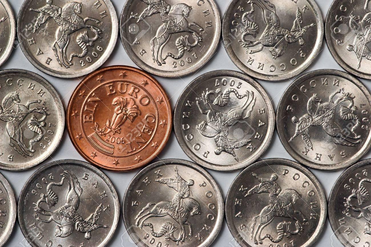 1 Euro Cent Münze Unter Den Russischen Günstigsten Münzen