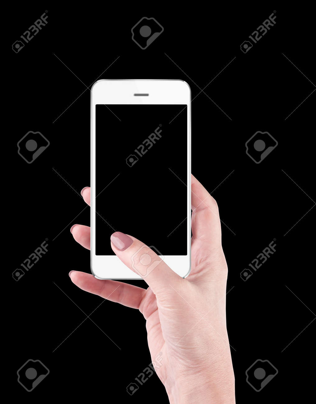 Hand holding and Touching a Smartphone - 72247614