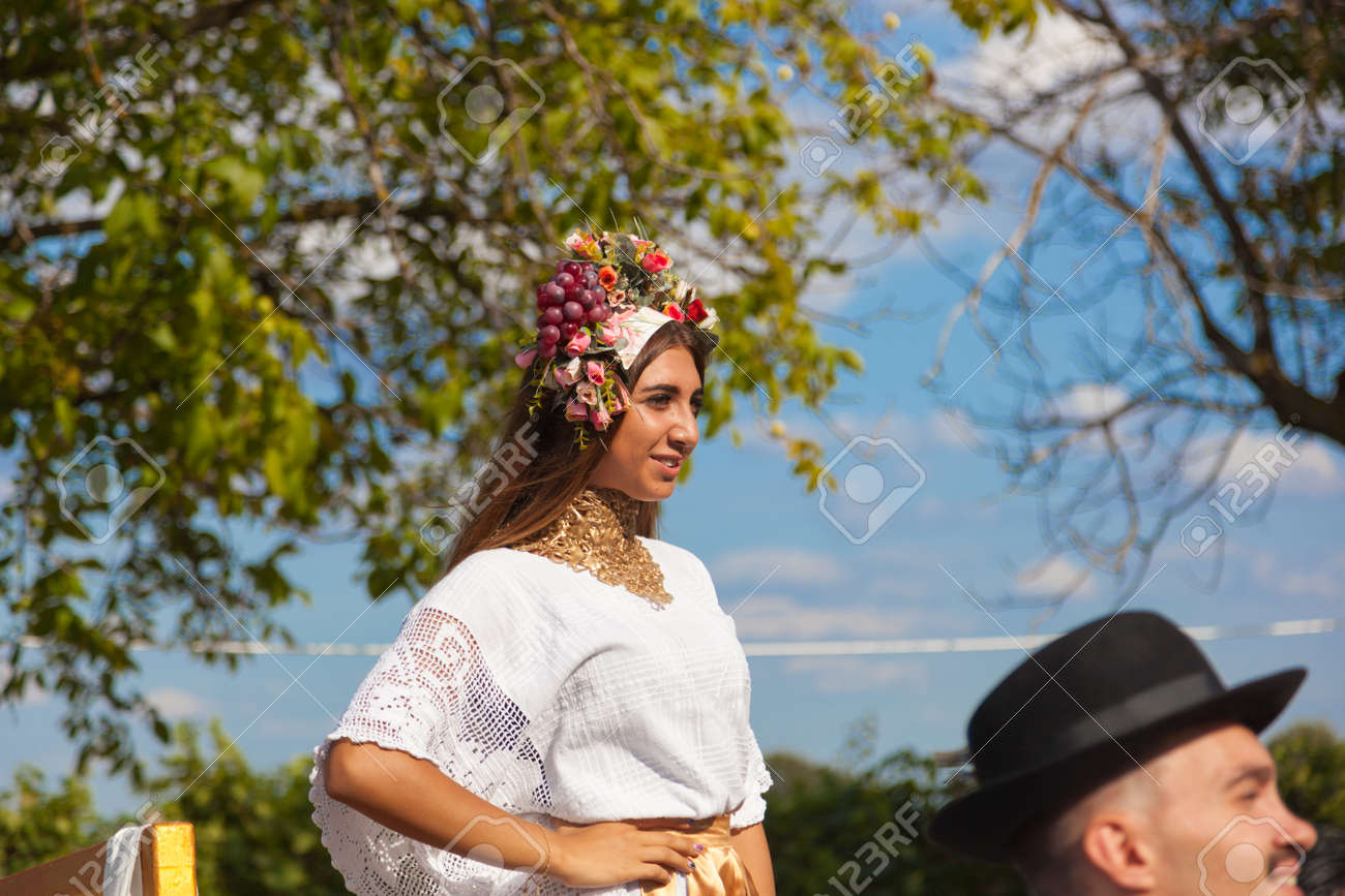 CHISINAU, MOLDOVA- SEPTEMBER 7, 2017: Parade participants in