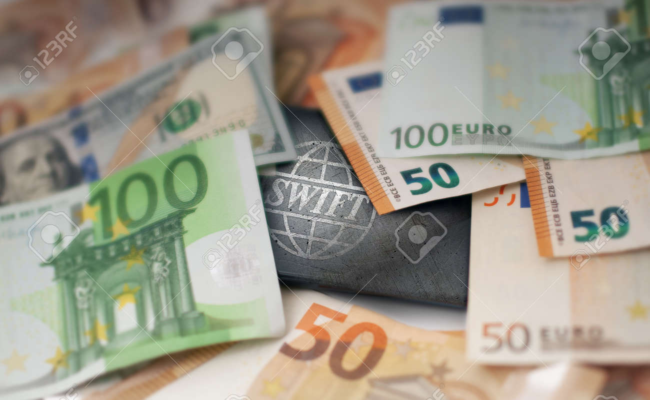 SWIFT. Society for Worldwide Interbank Financial Telecommunications. International Payment. Business background. Blurred concept - 170242734