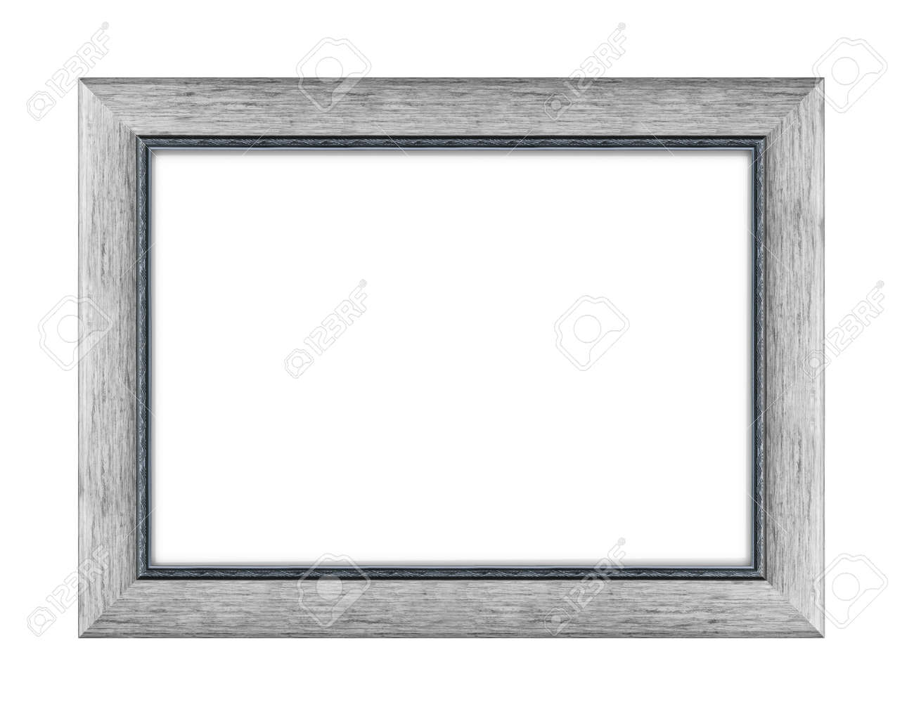 wooden frame for picture or photo, frame for a mirror isolated on white background. With clipping path - 170242736
