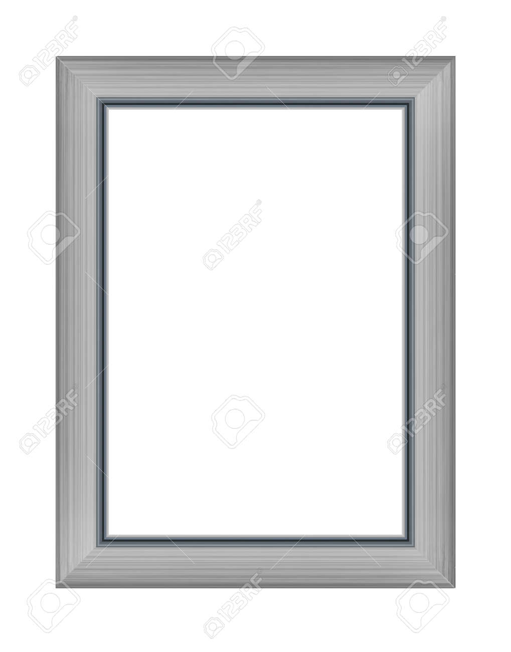 wooden frame for picture or photo, frame for a mirror isolated on white background. With clipping path - 170242737