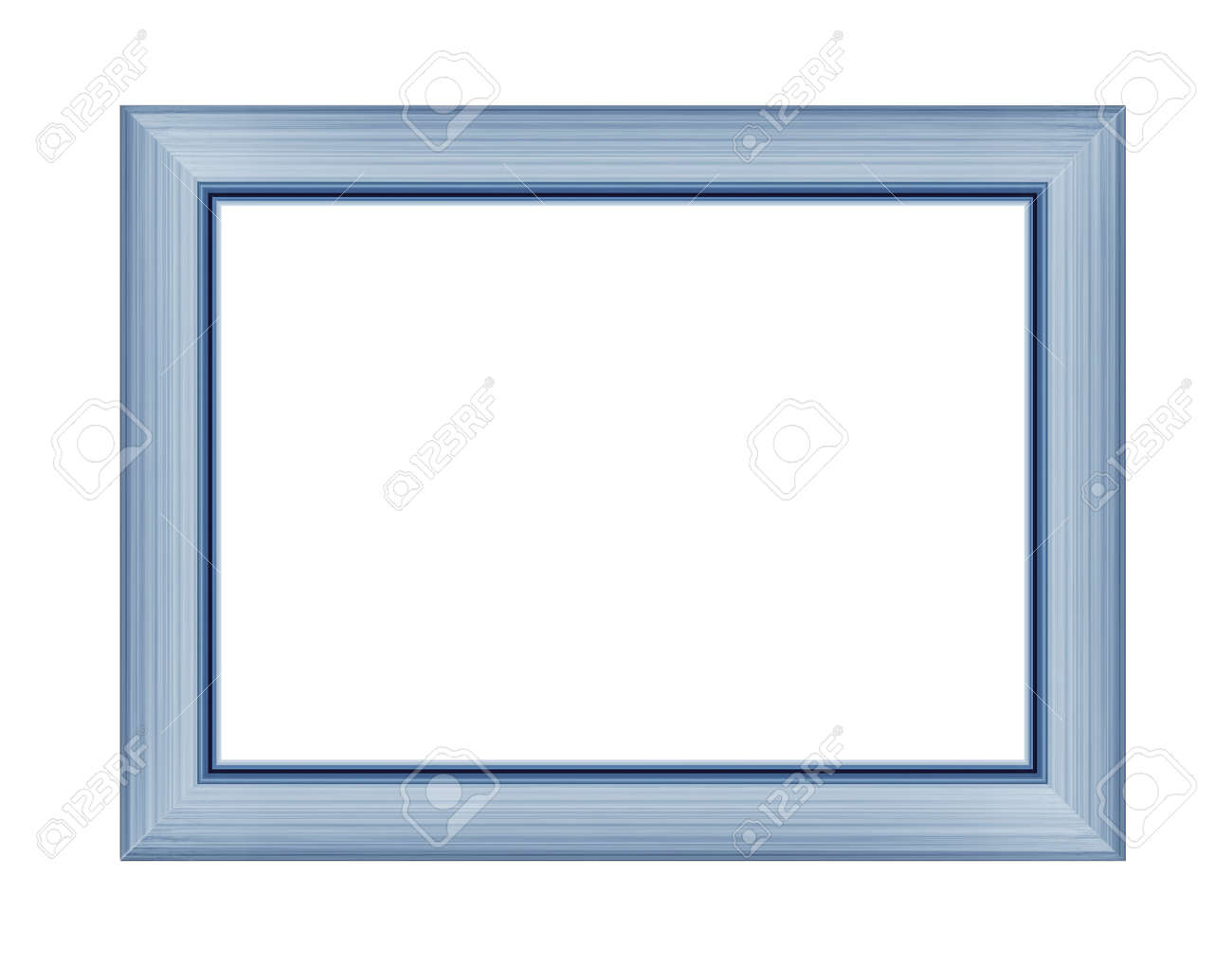 Blue frame for picture or photo, frame for a mirror isolated on white background. With clipping path - 170242745