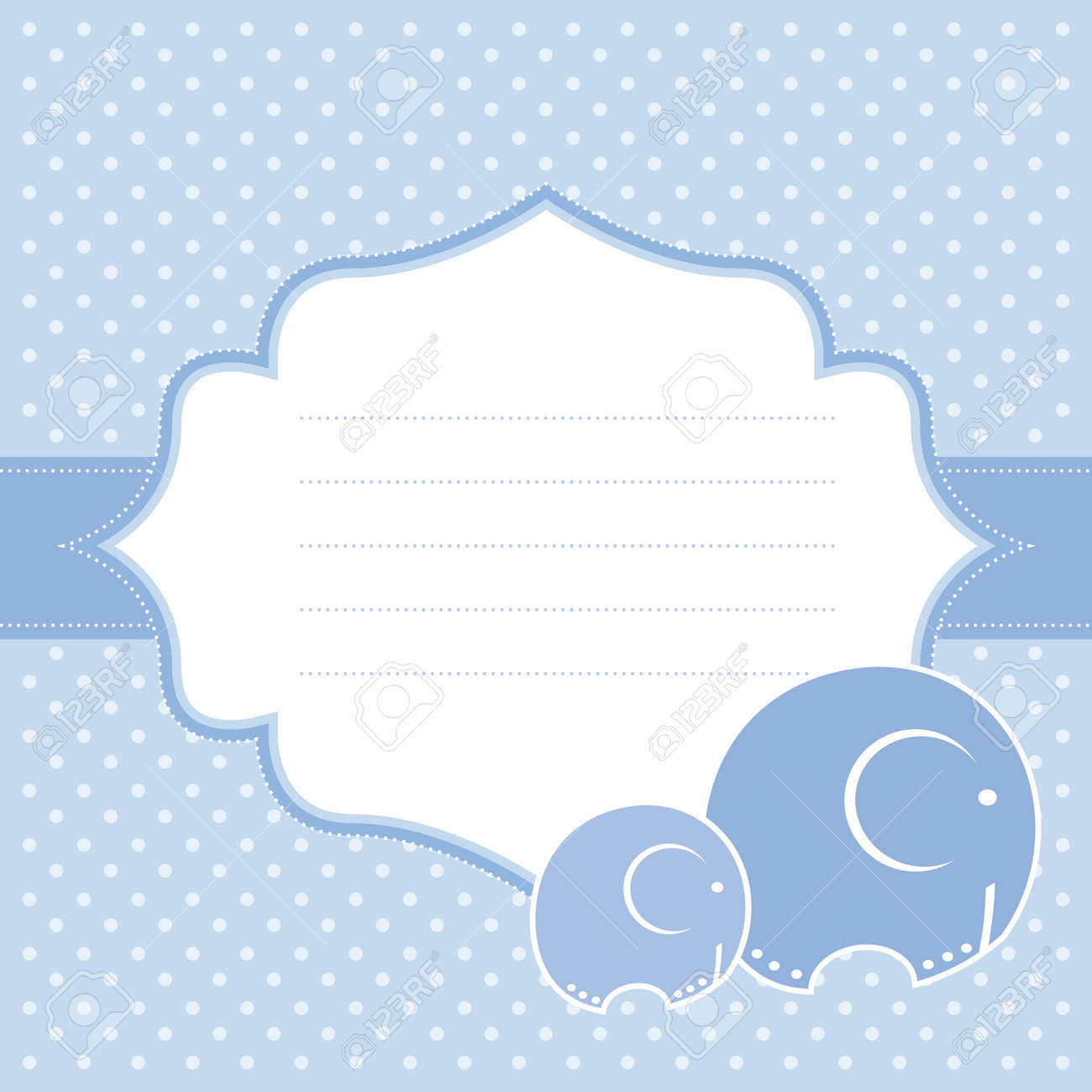 baby boy announcement card vector illustration royalty free cliparts