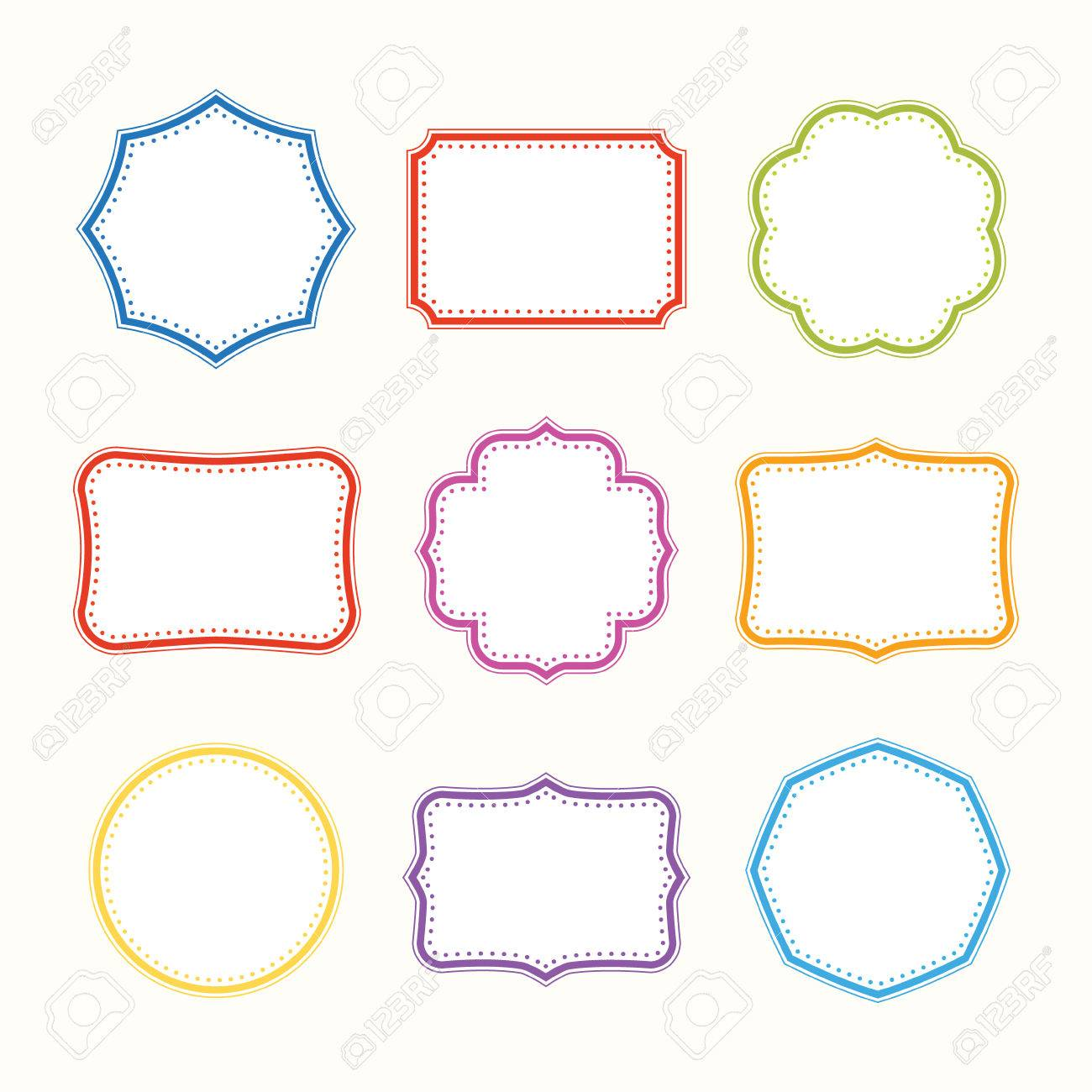 colorful frames vector set royalty free cliparts vectors and stock rh 123rf com glasses vector flames vector free