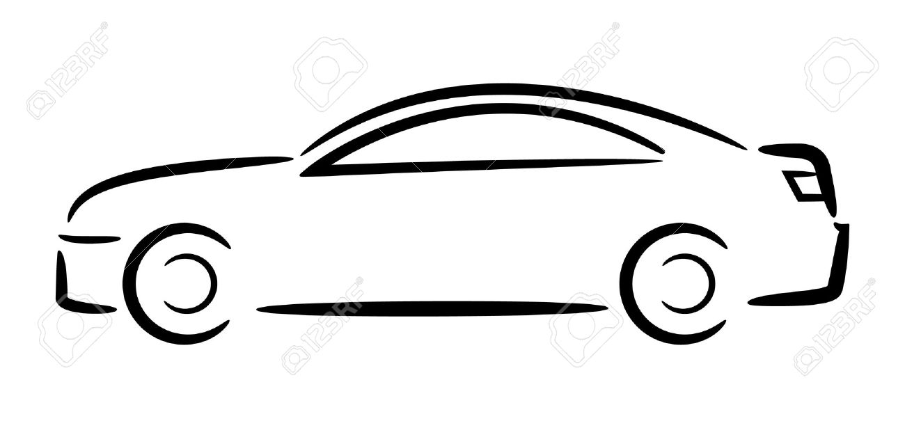 car outline vector illustration royalty free cliparts vectors and rh 123rf com