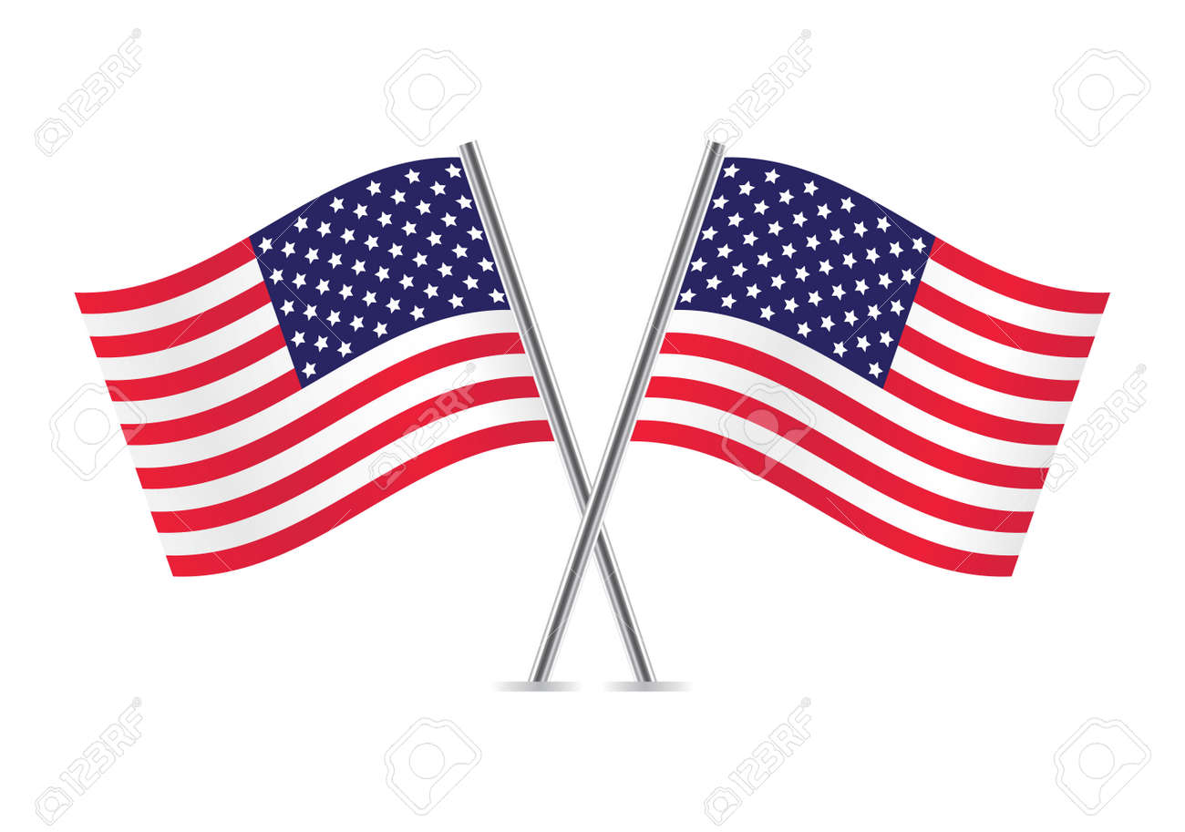 american flags flags of usa illustration royalty free cliparts rh 123rf com us flag clipart vector american flag clipart vector