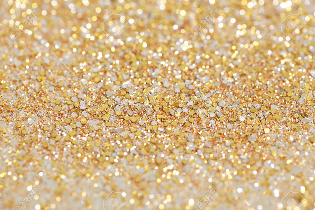 Christmas New Year Gold Glitter Background Holiday Abstract Texture Stock Photo