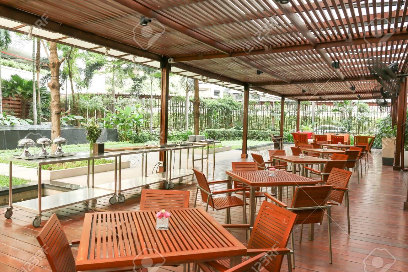 Bangkok Thailand February 27 The Restaurant Decor By Wood