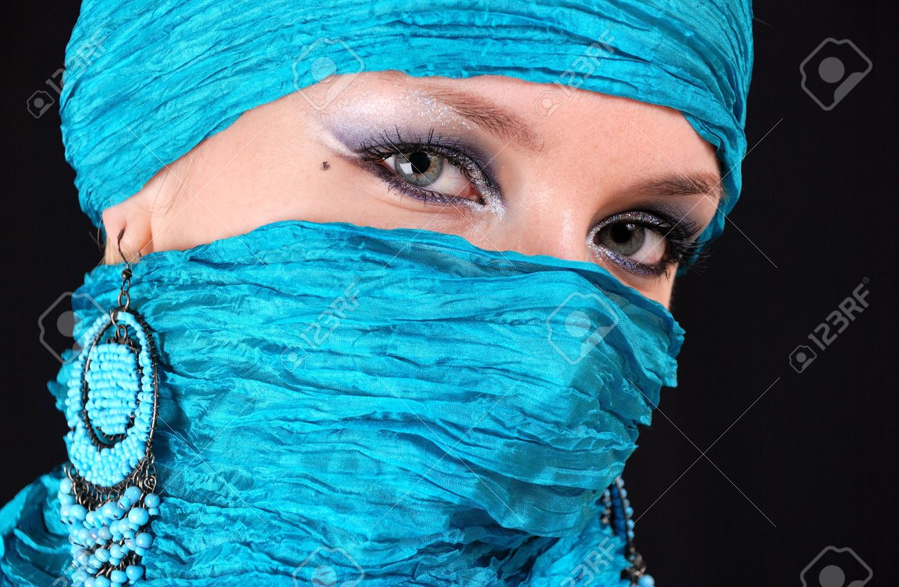 Muslim Girl With Beautiful Blue Eyes Stock Photo Picture And Royalty Free Image Image 6141291