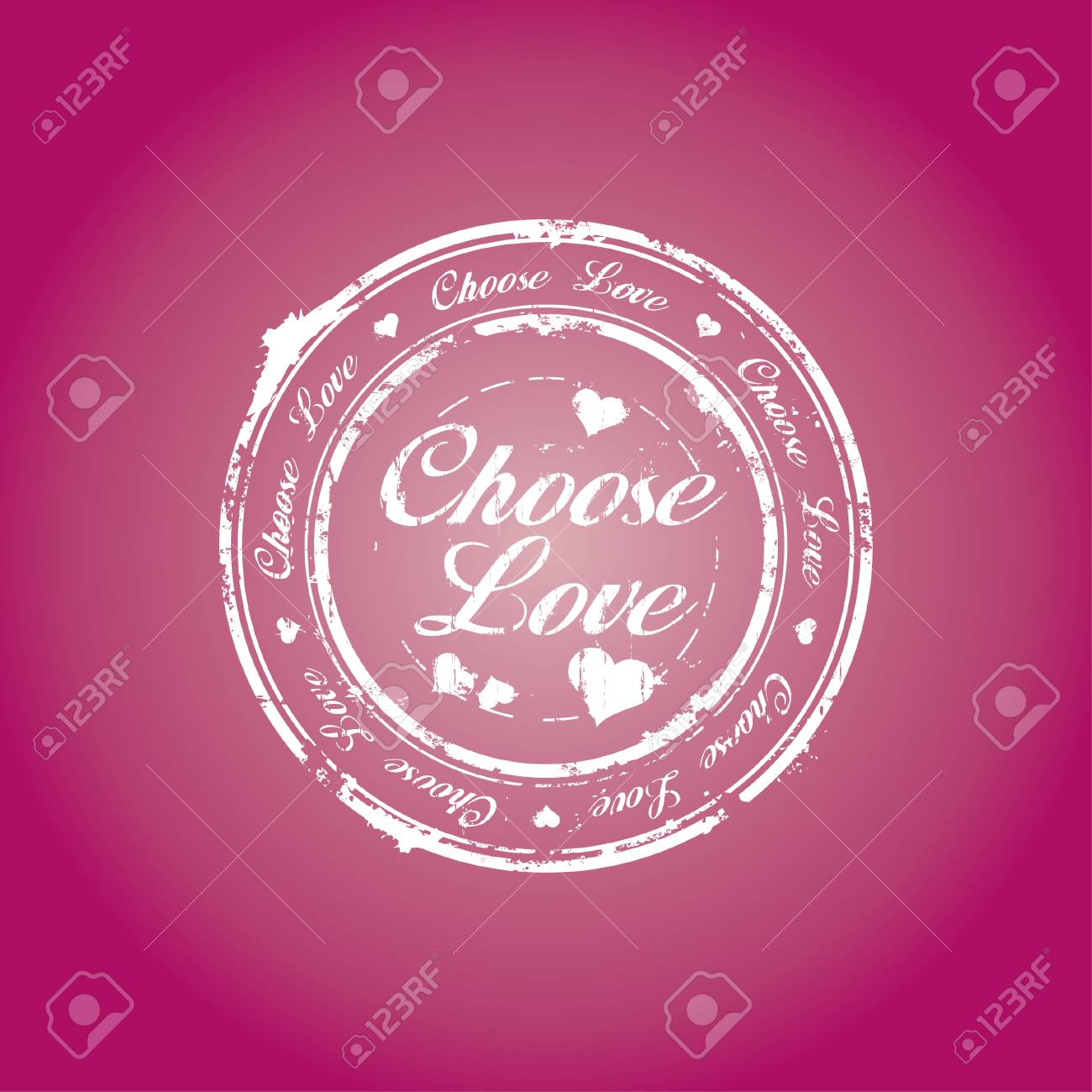 Choose love rubber stamp Stock Vector - 6246517
