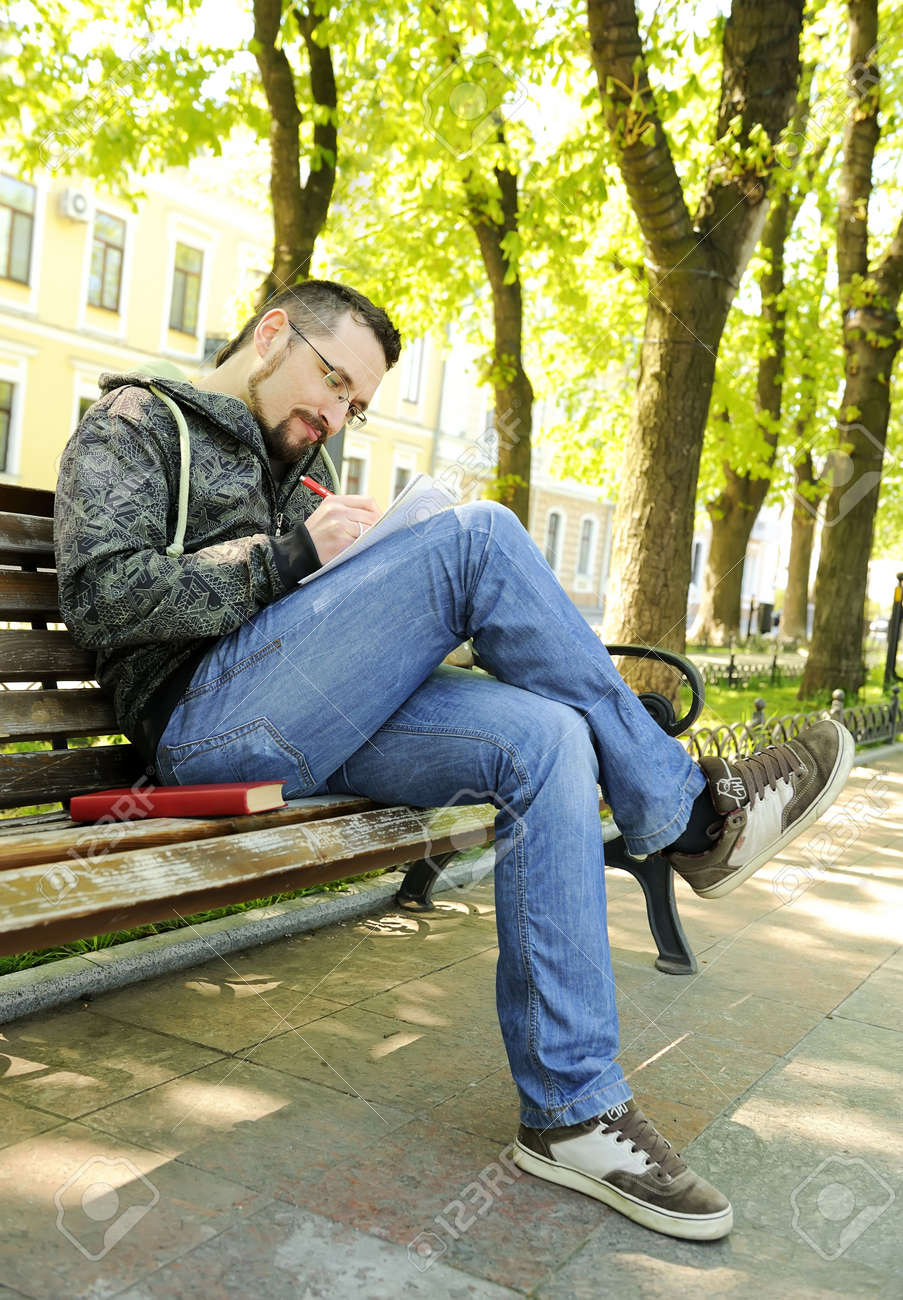 college male student outdoor Stock Photo - 6877750