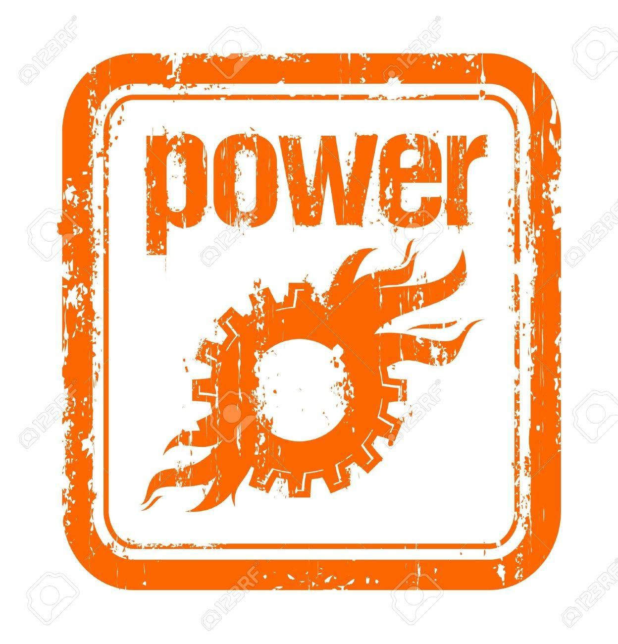 industrial power rubber stamp with mechanics Stock Vector - 7012342