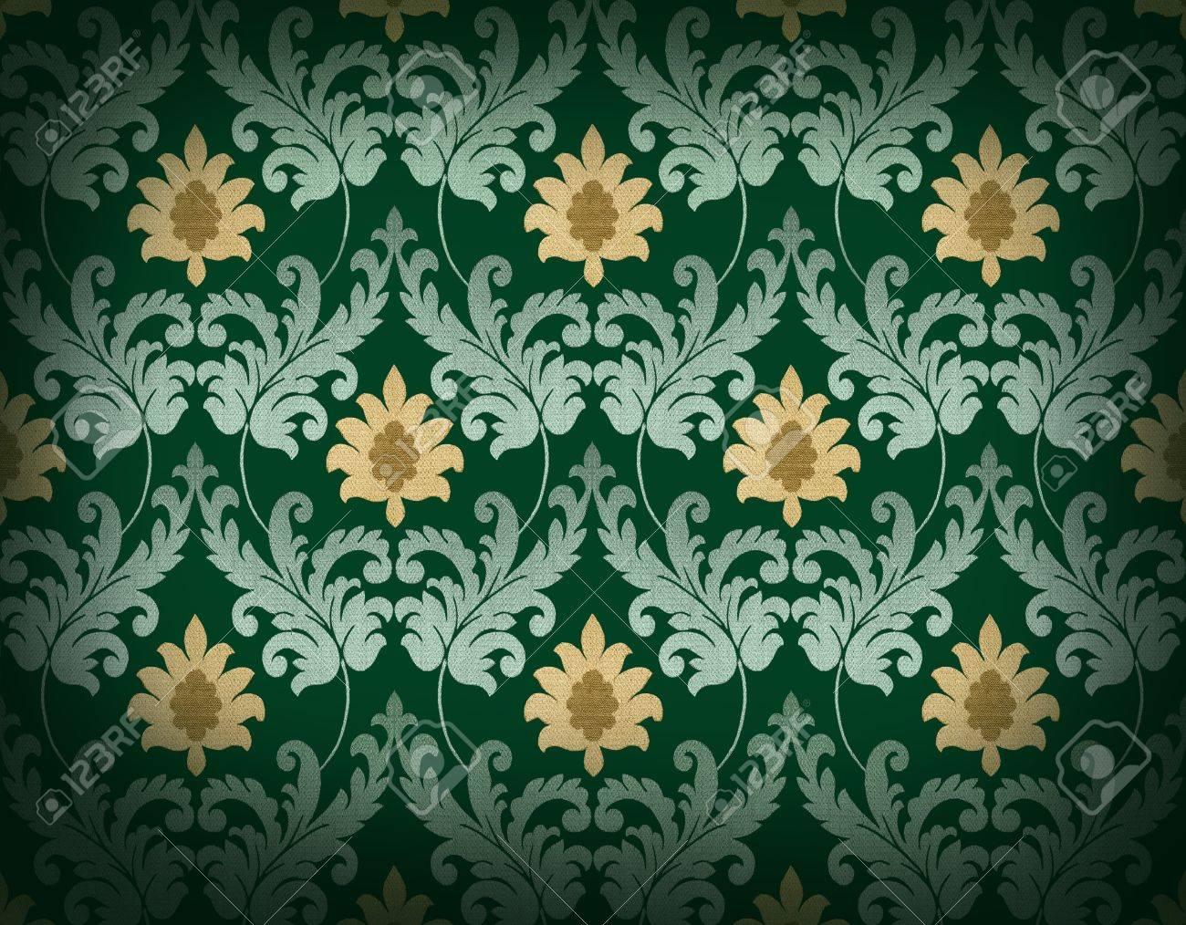 Decorative emerald green renaissance background Stock Photo - 7422185