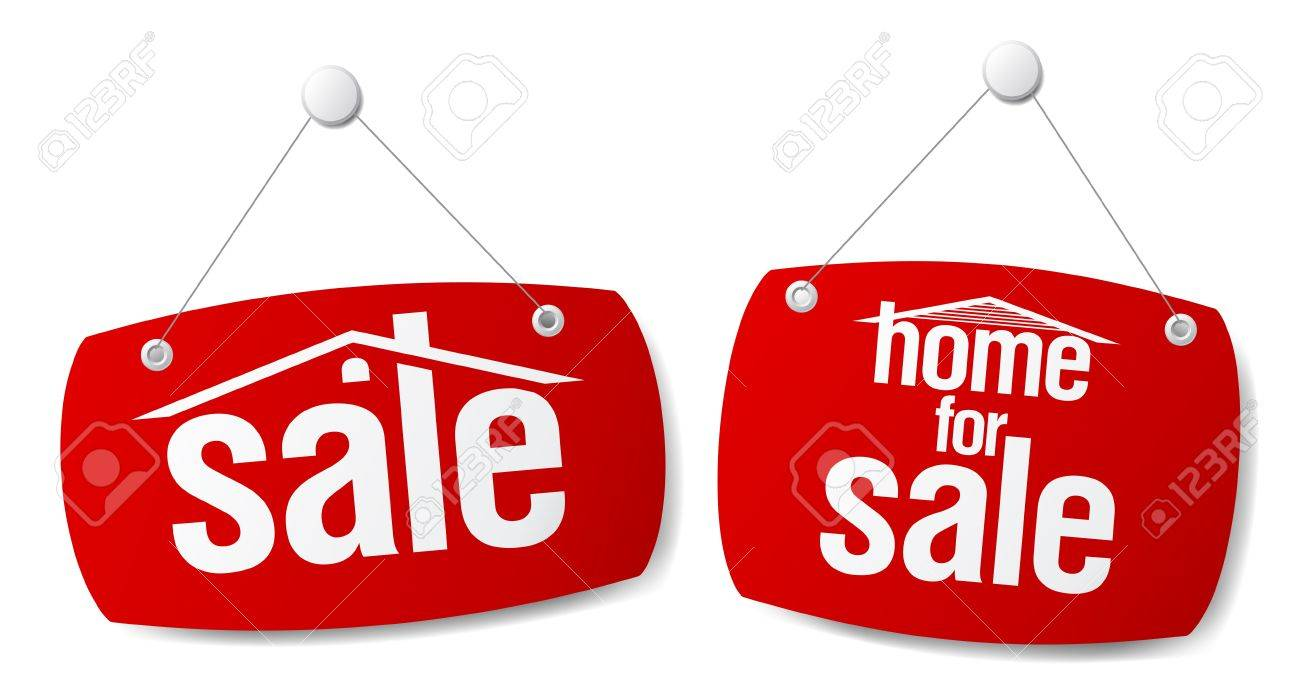 Property Sale  Signs Stock Vector - 7571112