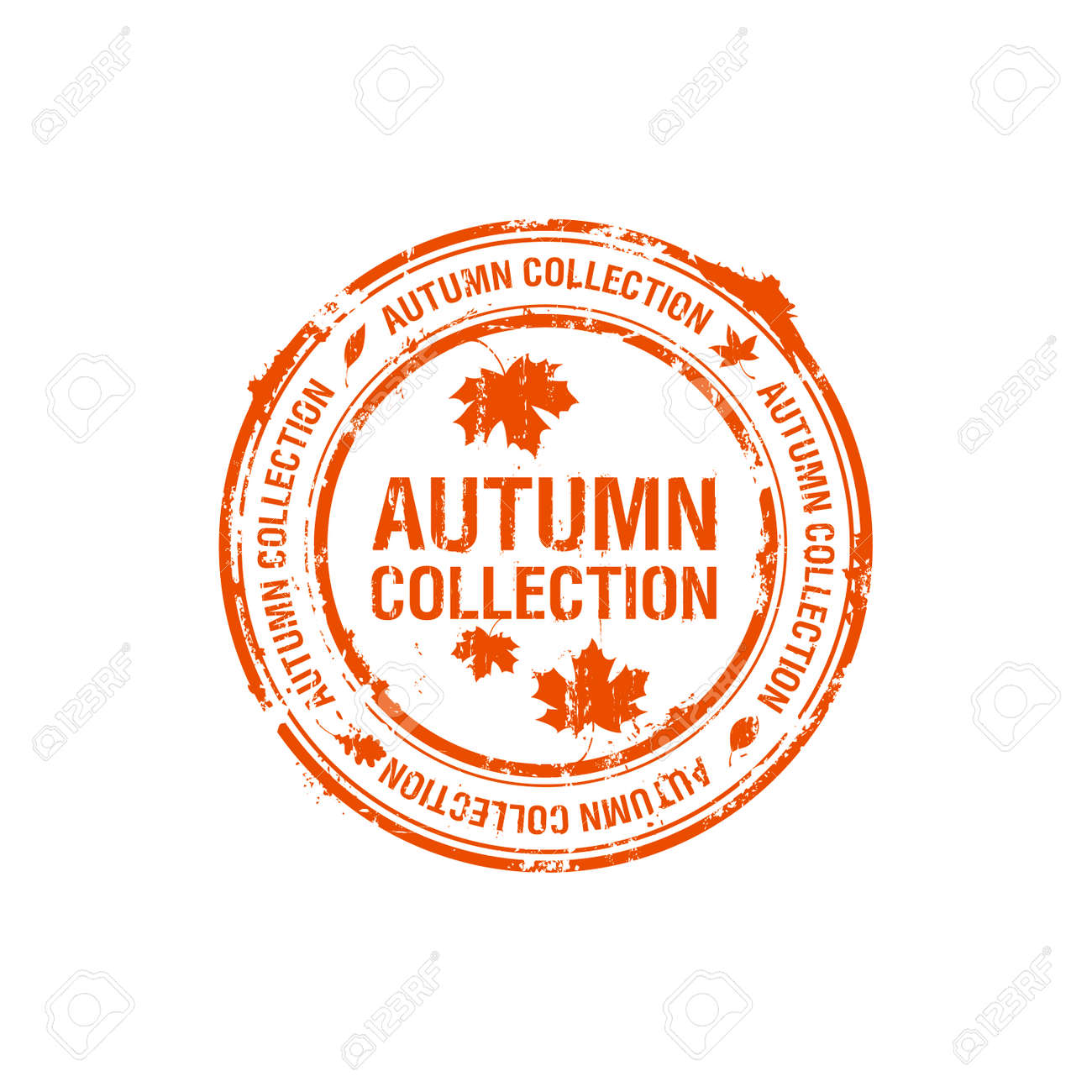 vector autumn collection stamp Stock Vector - 7804752