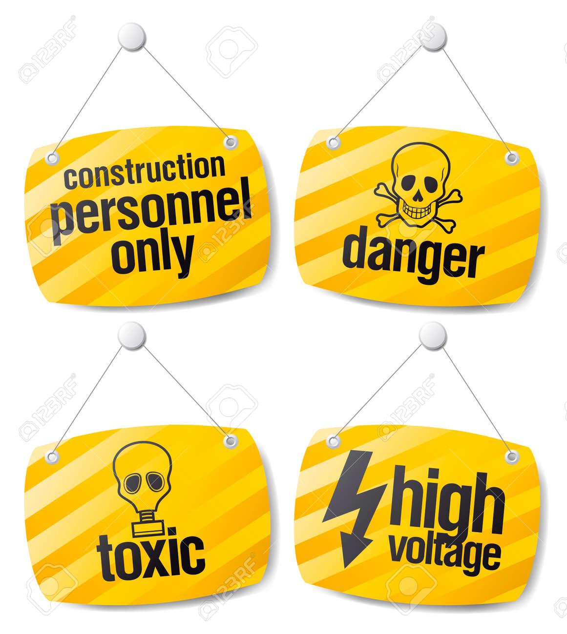 Set of alert danger vector signs Stock Vector - 7804746