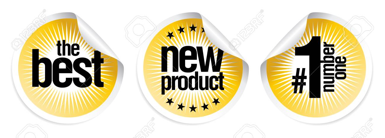 stickers set for best new products Stock Vector - 8110822