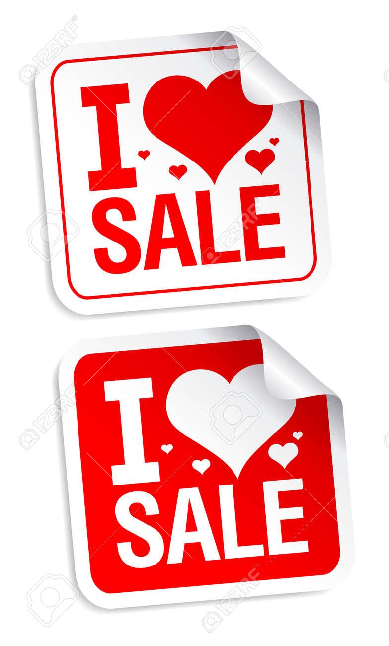 I love sale stickers set. - 8265537