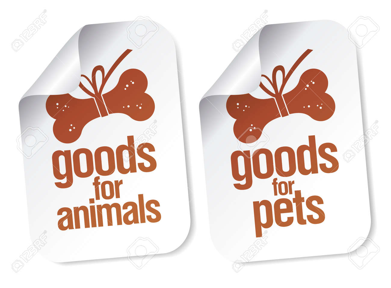 goods for pets stickers set Stock Vector - 8618873