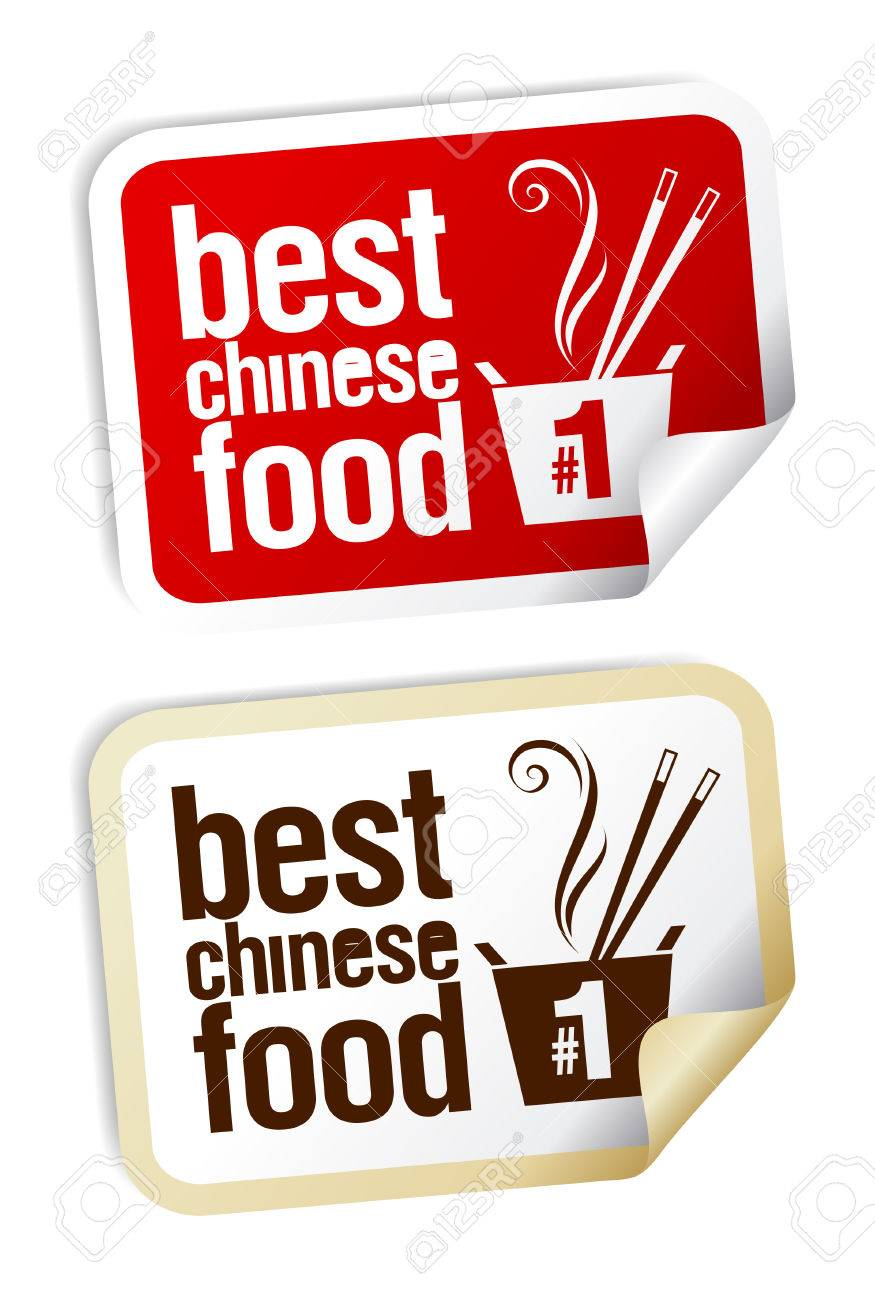 Best Chinese food stickers set. Stock Vector - 8732896