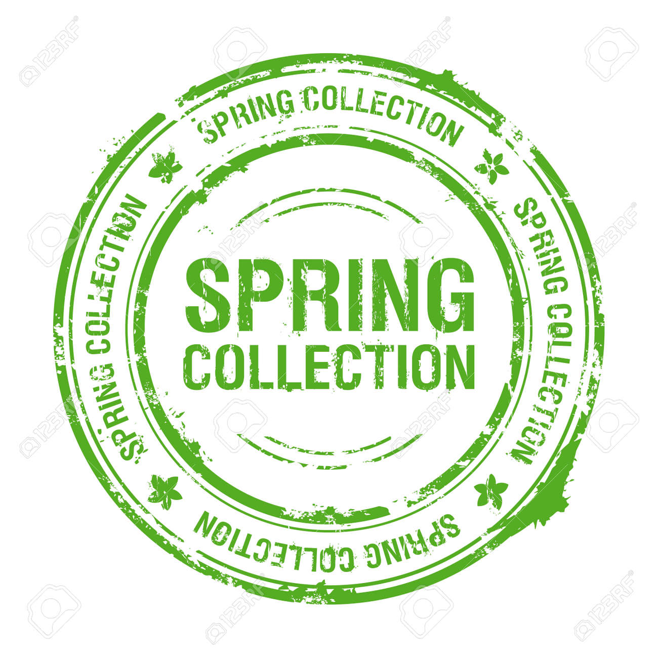 spring collection rubber stamp Stock Vector - 8853054